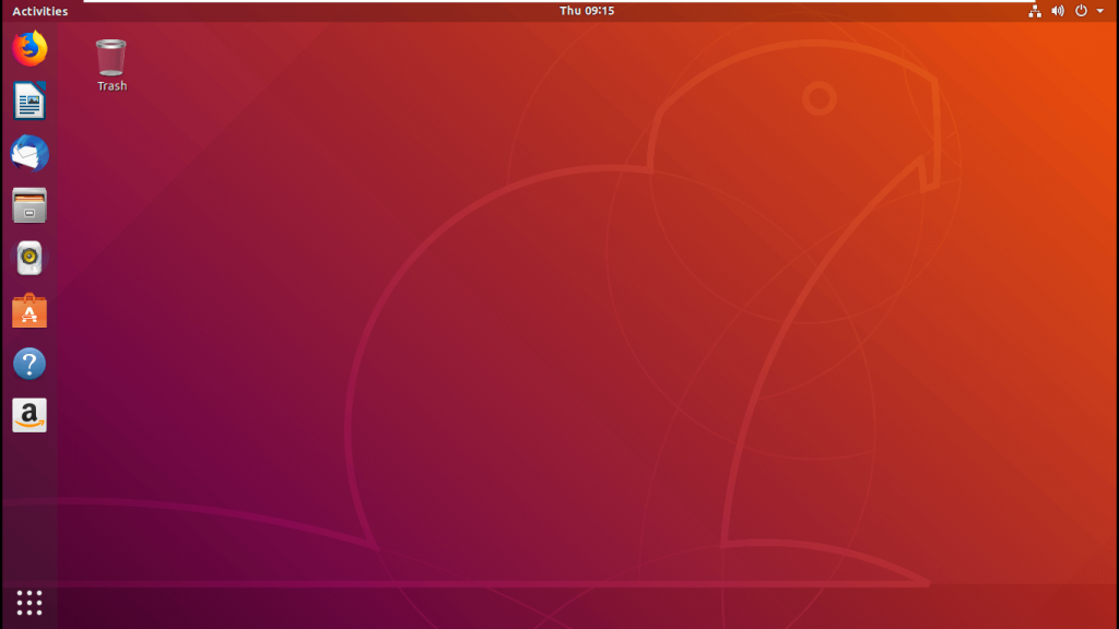 ảnh chụp màn hình giao diện ubuntu