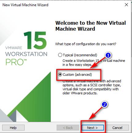 tạo máy ảo mới trên vmware bước 2