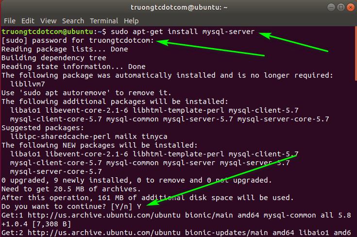 cai dat mysql cho ubuntu