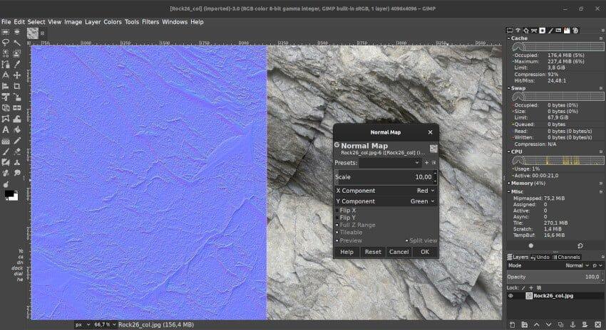 Ứng dụng GIMP thay thế photoshop trên linux