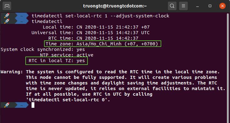 Sửa lỗi sai giờ khi cài đặt song song Windows & Ubuntu